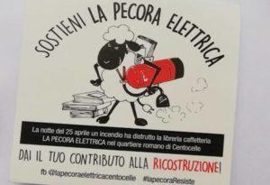 """Vile attacco alla libreria """"La Pecora Elettrica"""". Partita una raccolta fondi di sostegno"""