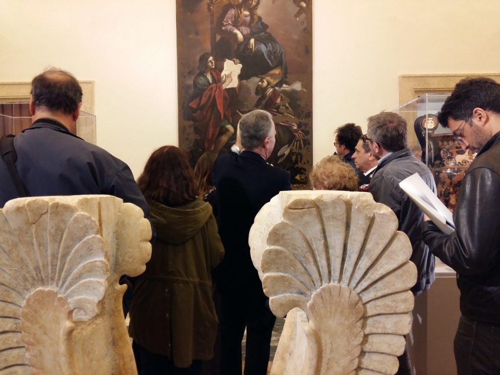 Quirinale: Mattarella inaugura mostra 'L'arte di salvare l'arte' (2)