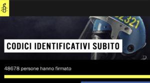Codici identificativi subito, il video e l'appello della campagna di Amnesty Italia