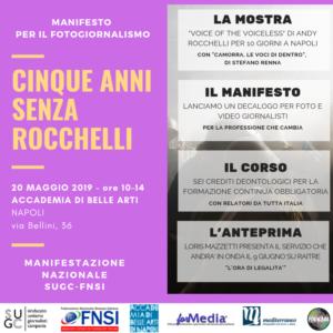 5 anni senza Rocchelli, manifesto per il fotogiornalismo. Napoli, 20 maggio