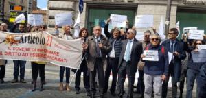 Giornata mondiale libertà di stampa. A Roma sit-in contro minacce e bavagli. Presentata la Carta di Assisi contro i muri mediatici