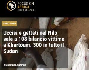 Solidarietà importante ma non basta, illuminiamo insieme il Sudan