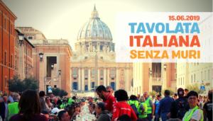 Tavolata italiana senza muri. 15 giugno in venti città italiane