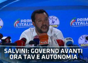 I Tg raccontano il trionfo di Salvini ed il tonfo di Di Maio.