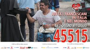 Frati Assisi: un sms con il cuore al 45515 per mense francescane in Italia e poveri nel mondo