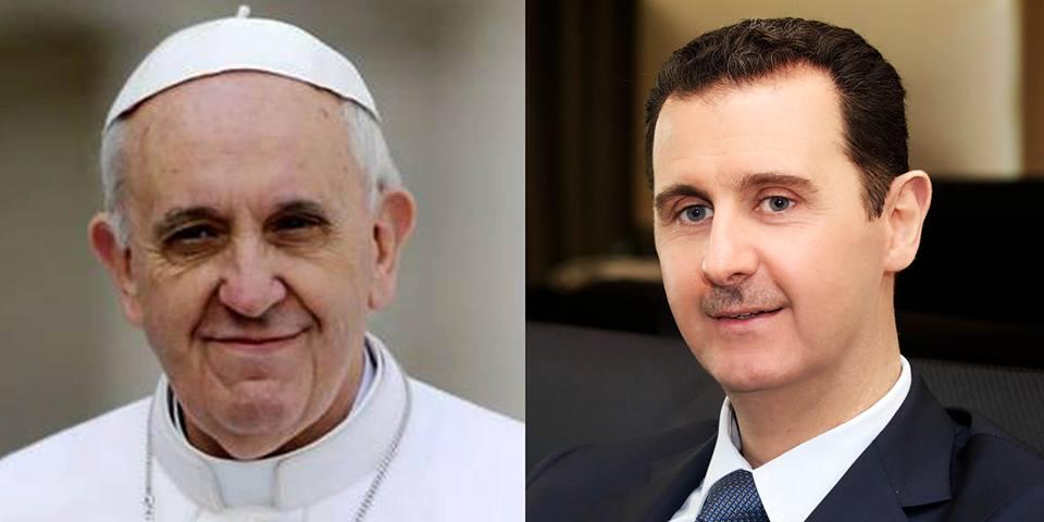 Siria. Il Papa scrive ad Assad: