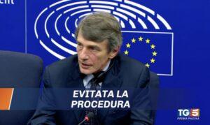 """Italia """"promossa"""" sul debito. Sassoli all'Europarlamento."""