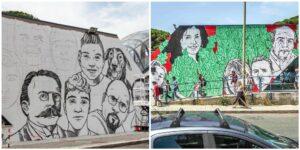 """Ecco come """"sfogliare"""" insieme il murales della legalità di Ostia: la raccolta fondi dal basso contro la censura"""
