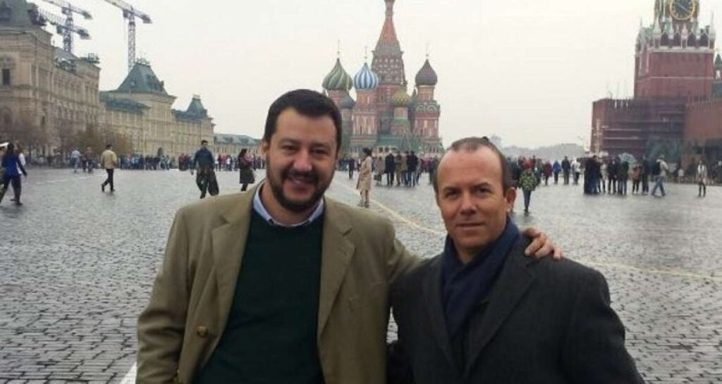 Matteo Salvini e Gianluca Savoini