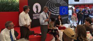 Venezia. Giulietti consegna a Sassoli due documenti: uno per liberare il linguaggio giornalistico dalle parole dell'odio, e uno per ricordare Antonio Megalizzi