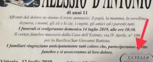 Chiusa per mafia l'agenzia che ha fatto i funerali del piccolo Alessio D'Antonio