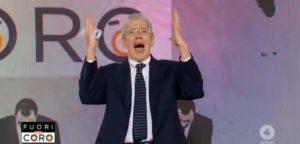Mario Giordano salta e grida, con le notizie fa (soprattutto) spettacolo