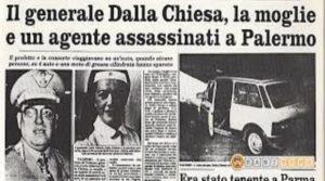 37 anni fa l'omicidio del Generale Dalla Chiesa. La mafia ieri e oggi. Dal sud al nord trova spazio nella corruzione