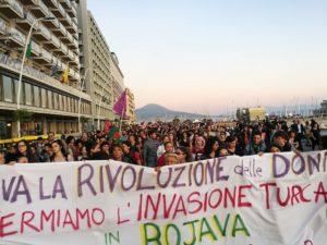 Napoli. In centinaia per esprimere solidarietà al popolo curdo