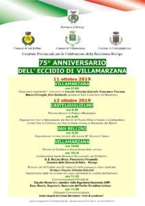 75° anniversario dell'Eccidio di Villamarzana. 13 ottobre commemorazione dei 43 martiri