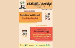 Giornalisti a Rovigo per dibattere di geopolitica e informazione e di vecchia e nuova censura