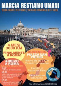 """Marcia """"Restiamo umani"""" Basta odio, basta paura. Uniti per i diritti di tutti. Roma, 19 ottobre"""