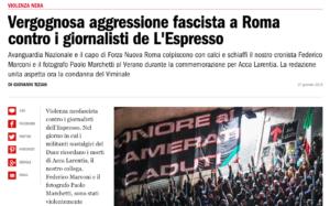 Il 21 ottobre a Piazzale Clodio: saremo in tanti per dire No ai fascisti
