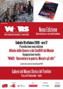 A Trento la presentazione della nona edizione dell'Atlante delle guerre e la mostra WARS