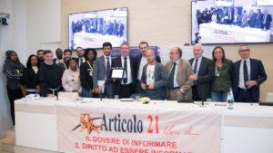 Assemblea Articolo21 oggi in Fnsi. I premi per la libertà di informazione