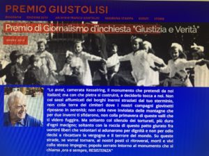 Premio Giustolisi 2019: tra i premiati Federica Iezzi, Valerio Cataldi, Paolo Berizzi, Benedetta Tobagi, l'intera redazione di Report