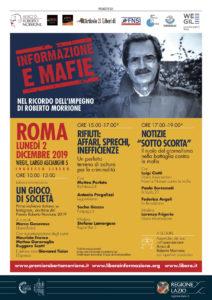 """""""Informazione e mafie"""". Il 2 dicembre a Roma"""