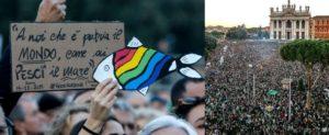 Le sardine emergono dalla testimonianza umana di Bergoglio