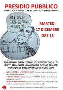 Caserta, 17 dicembre: presidio pubblico Ex Canapificio e Movimento migranti