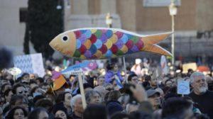 Roma capitale delle sardine