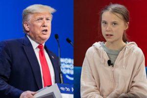 Greta preoccupata della biosfera, Trump chiuso nella sua egosfera