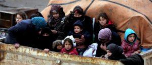 Siria: 250mila sfollati. 6500 bambini al giorno costretti alla fuga nell'ultima settimana