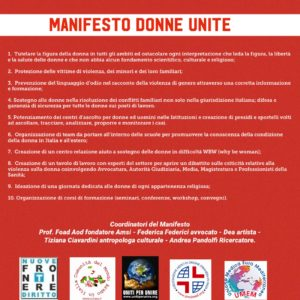 #8MARZO, lanciato il Manifesto Internazionale DonneUnite nella festa della donne