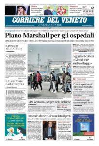 Coronavirus: tre giornalisti positivi al corriere del Veneto. Chiusa la redazione di Padova, la vicinanza di Sgv