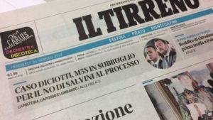 Minacce al Tirreno: comitato per l'ordine pubblico con Odg e Ast a Pistoia. Indagini in corso e redazione sorvegliata