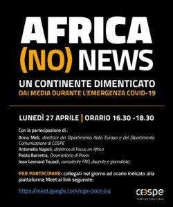 L'Africa dimenticata dal mainstream, oggi il talk promosso da Cospe e Focus on Africa
