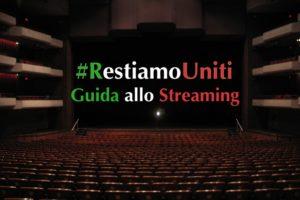 """Fondazione Terron e Rivista """"Sipario"""". Guida Streaming  #restiamoacasa"""
