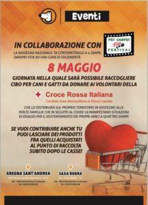 Il Pet Carpet Film Festival e Croce Rossa italiana l'otto maggio a Roma gara di solidarietà per il cibo da donare agli amici a quattro zampe