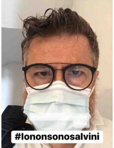 #iomettolamascherina l'hastag di Paolo Baldini l'infermiere che critica Salvini
