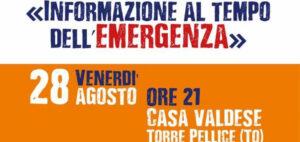 L'informazione al tempo dell'emergenza domani a Torre Pellice con Sabrina Giannini