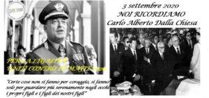 Carlo Alberto Dalla Chiesa, prezioso patrimonio di valori civili da trasmettere alle nuove generazioni