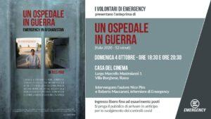 """""""Un Ospedale in Guerra"""". A Roma l'anteprima italiana del documentario di Nico Piro"""