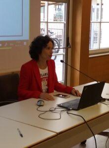 Appello della portavoce Ekaterina Ziuziuk dell'Associazione Bielorussi di Trento