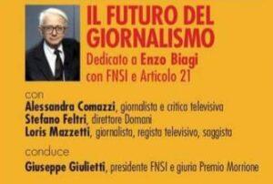 Seconda giornata Premio Morrione. Panel dedicato a Biagi con Giulietti e Mazzetti