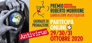 Antivirus. Giornalismo e emergenza covid-19. Premio Roberto Morrione. 29, 30, 31 ottobre