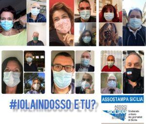 '#IoLaIndosso e tu?', Assostampa Sicilia si mobilita per promuovere l'uso della mascherina