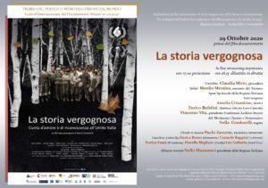 """""""La storia vergognosa"""". Di Nella Condorelli. Prima in live streaming. 29 ottobre"""