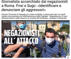 Italia: troppi attacchi ai giornalisti nelle piazze. La denuncia del consorzio Media Freedom Rapid Response