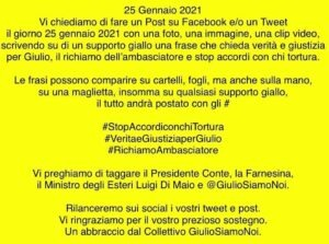 #Scortamediatica per Giulio Regeni, oggi più che mai richiamo ambasciatore inderogabile