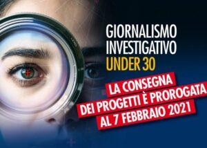 Premio Roberto Morrione, prorogato al 7 febbraio il termine per l'invio dei progetti
