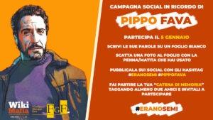 Ricordiamo Pippo Fava sui social!